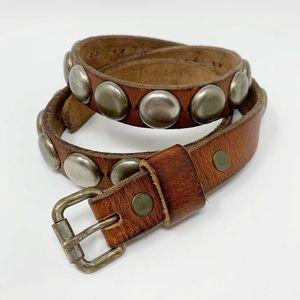 HTC | Leather Stud Embellished Belt Vintage Boho